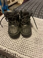 Nike Toddler Woodside 524874-001 Black Leather Boots Acg size 7 C