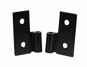 Kentrol Lower Door Hinge in Black - Steel - Pair + Hardware Fits CJ 76-06 50407