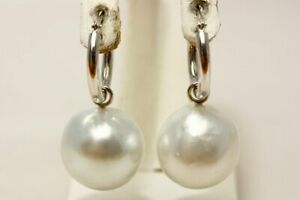 South Sea Pearl Earrings 14mmUP White color 14KWG