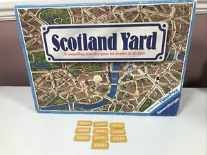 Vintage Scotland Yard Board Game Spare Replacement Parts 10  Taxi Tickets
