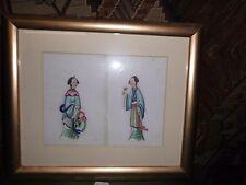 2. Japanische Reispapier Malerei um 1900 Asiatika Japan