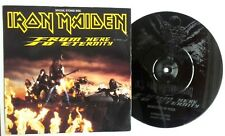 """EX/EX IRON MAIDEN 1992 FROM HERE TO ETERNITY 7"""" ETCHED VINYL 45"""