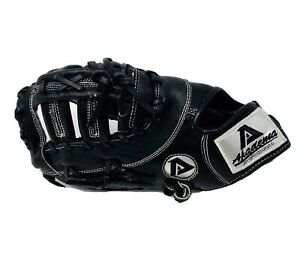 Akadema ADJ-154 Precision Kip Series 12.5in Baseball First Base Mitt Black