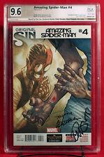 Amazing Spider-Man #4 PGX 9.6 NM+ signed STAN LEE, RAMOS, SLOTT +2 1st SILK +CGC