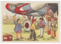 Torino Air Tourist Children Mexican Indian Costume Typical Card D' Epoca
