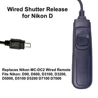 Wired Shutter Release for Nikon D for D90 D600 D3100 D3200 D5000 D5100 D5200
