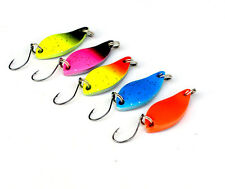 10PCS Colorful Fishing Fish Spoon Lure Hook Spinner baits 3cm/5g