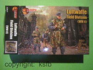 1/32 MARS 32017 WKII Deutsche Luftwaffe Feld Soldaten Figuren German Soldiers