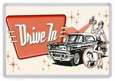 Retro Drive In Diner Fridge Magnet. NEW. Roller Blade Waitress
