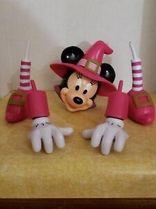 HALLOWEEN Disney Witch MINNIE MOUSE Pumpkin Decor Push-In 5 Piece Set