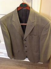 Oscar de la Renta Vintage Gray 3-Button Wool Men's Blazer Sport Coat 44L