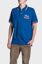FRANKLIN AND MARSHALL SHORT SLEEVE POLO WITH FRONT POCKET - BLUE 3XL RRP £60