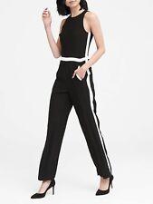 Banana Republic Side-Stripe Jumpsuit, Sz 6 Black & White (C2525)