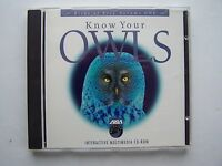 Know Your Owls, Birds Of Prey Vol 1 Multimedia PC CDROM 1995 Axia International
