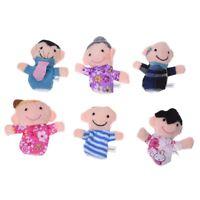 6 Burattini Pupazzi Marionette da Dita Figura Umana Famiglia T1L5