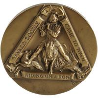 """""""Yankee Doodle"""" Scuptural Solid Bronze Medallion Marcel Jovine Medallic Art Co."""