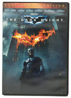 The Dark Knight DVD Fullscreen Edition (Christian Bale, Heath Ledger) USED EUC