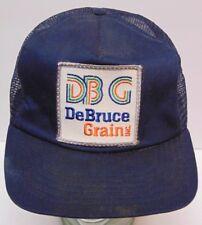 Vintage 1980s Debruce Grain Feed Seed Farm Patch Snapback Trucker Hat Cap Usa