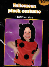 Cute Plush DanDee Lady Bug Halloween Costume - Toddler Size - New