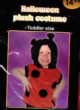 Cute Plush DanDee Lady Bug Halloween Costume - Toddler Size - New