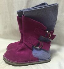 Sorel Chipahko Felt Pink Suede Ankle Calf Boots Girls Youth 1/32 Winter Pull On