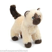 "Hilda Douglas plush 6"" Himalayan stuffed animal Cat brown tan kitty Cuddle Toy"