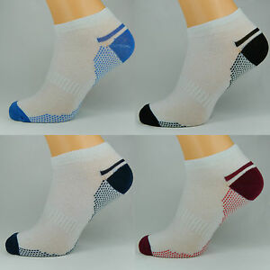 3 PAIR MENS WHITE DOTS BREATHABLE QUALITY TRAINER LINER ANKLE SOCKS UK SIZE 6-11