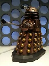 "Dr Who Talking Asylum Of The Daleks Bronze Gold Sound SFX UK Exclusive 5"" Figure"