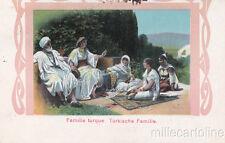 1917 FAMILLE  TURQUE - TURKISCHE FAMILIE CARTOLINA DA BANJALUKA A ZARA