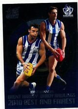 2011 Select Infinity Harvey Rawlings  North Melbourne 2010 Best and Fairest BF10