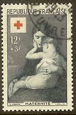 "FRANCE TIMBRE STAMP N°1006 ""CROIX ROUGE MATERNITE 12F+3F"" OBLITERE TB"