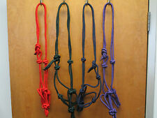 Horse Sized Rope Halters /  Lot Of  4  , 8 colors to choose from
