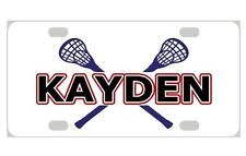 LACROSSE Personalized Kids MINI LICENSE PLATE Any Name Bicycles Door Sign