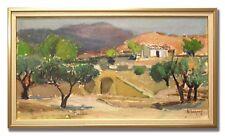 GIDEON ISAKSSON *1911-1980 / SOUTHERN LANDSCAPE - Original Swedish Oil Painting