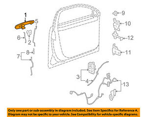 Buick GM OEM 06-11 Lucerne-Outside Exterior Door Handle Left 25947661