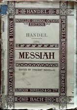 More details for handel the messiah novello's original octavo edition pub. early to mid 1900's