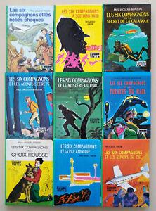 Lot de 9 Livres Les Six Compagnons de Paul-Jacques Bonzon