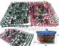 270 pcs Military Playset Toy Soldiers Army Men Green Red Figures & Accessories