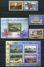 Papua Neuguinea 2009 Trad. Kanus Boote Ships Boats 1477-80 Block 95-96 MNH