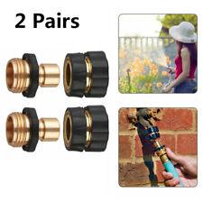 "2 Pairs Tap Adapter Universal Garden Hose Quick Connect Set 3/4"" Thread Sprayer"