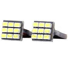 2PCS Super White T10 Wedge 9-SMD Interior LED Light bulbs W5W 194 168 2825 158