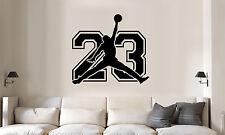 Michael Jordan jumpman inside jersey number wall lettering quote bedroom/sticker