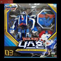 Geo Mecha Beast Guardian 03 NASHORN Blue Rhino Transformer Robot Young Toys 2016