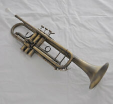 """Top new Antique Bb trumpet horn with mouthpiece case 4-7/8"""" bell"""