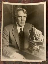 Microscope Professor Wood Death Ray Photograph 1927 Johns Hopkins