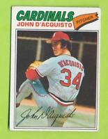 1977 Topps Autographed Card - John D'Acquisto (#19)  ST. Louis Cardinals