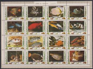 S464. Umm al Qiwain - MNH - Marine Life - Fish - Full Sheet