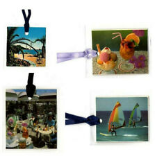 4 xMini-Postcard Tags Holidays picture Cocktails Paradise Gift Price Windsurfing