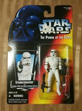 New Stormtrooper 1995 Kenner Hasbro Power of the Force Red Saber Background...