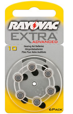 60x Rayovac extra Advanced Hörgerätebatterien Knopfzelle Pr70 Typ 10